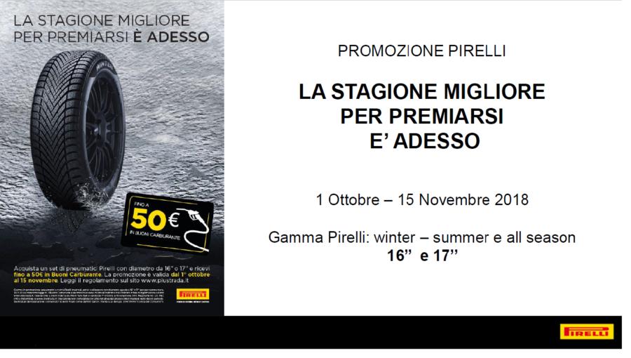 promozione pirelli 2018 - 50€ buoni carburante