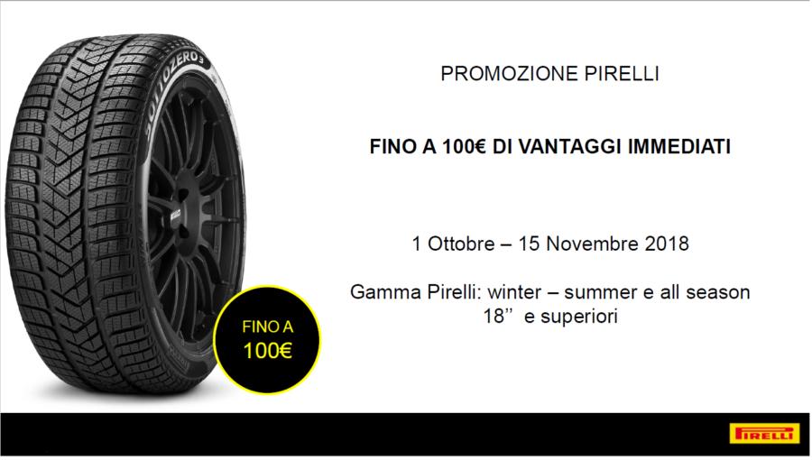 promo pirelli 2018 - 100€ di buoni carburante